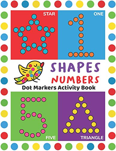 Dot Markers Activity Book: Easy Guided BIG DOTS | Do a dot page a day | Giant, Large, Jumbo and Cute USA Art Paint Daubers Kids Activity Book | Gift ... Girls, Boys | SHAPES and NUMBERS