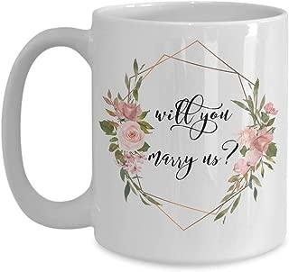 Will you marry us gift mug - Wedding officiant coffee/tea gift