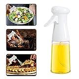 CenDII Pulverizador de Aceite, 7 oz. / 210 ml Dispensador de Aceite de Oliva para Cocina, Portátil Pulverizador Aceite Botella, Spray de Aceite para Cocinar/ Ensalada/ Hornear/ Pan/ BBQ- White