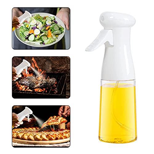 CenDII Spruzzatore Olio, 7 oz./ 210 ml Dispenser per Spruzzatore di D'oliva Olio, Flacone Spruzzatore Olio, Mister per Spruzzatore di Olio per Cucinare/ BBQ/ Friggitrice Ad Aria/ Insalata- White