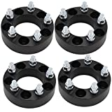 4pc Black Wheel Adapters | 5x4.5 to 5x5.5 | Adapters Fit Jeep CJ Wheels To Wrangler Vehicles