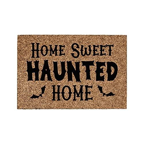 Briskorry Felpudo para interior de Halloween con letras impresas, antideslizante, lavable a máquina, antideslizante, antideslizante, antideslizante, antideslizante, para el suelo