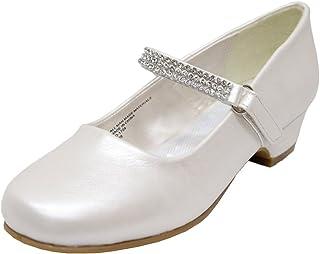 a153e80f349e4 Adingshine Big Girls Dress Heels with Rhinestones Strap