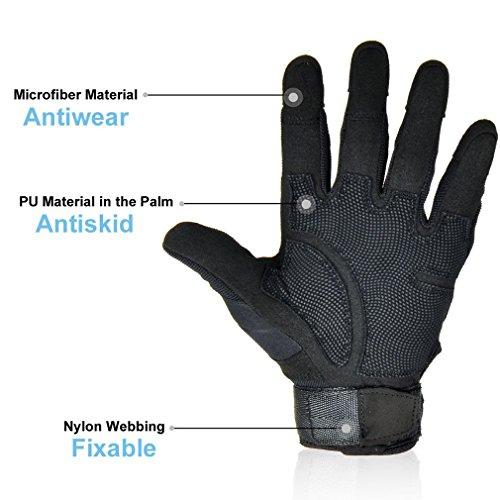 Freemaster Herren Outdoor-/Sport-Handschuhe, ganze Finger, zum arbeiten, für die Jagd und fürs Motorrad-/Radfahren, Klettern, Skilanglaufen, Handschuhe - 4