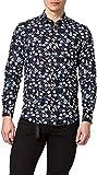 Antony Morato Camicia Napoli Slim Soft Touch Printed Cotton Camisa, Negro, 48 para Hombre