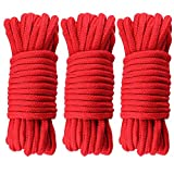 G2PLUS 30M Red Soft Cotton Rope 8 MM Thick Rope Cord Cotton Twisted Cord