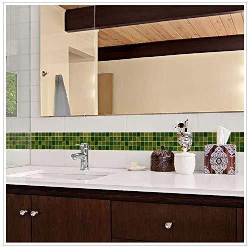 Cenefa de pared autoadhesiva gresites verde ideal dormitorio, escaleras, baños, cocinas, lofts, desvanes, despensas 10 cm x 10 m mil ideas de CHIPYHOME