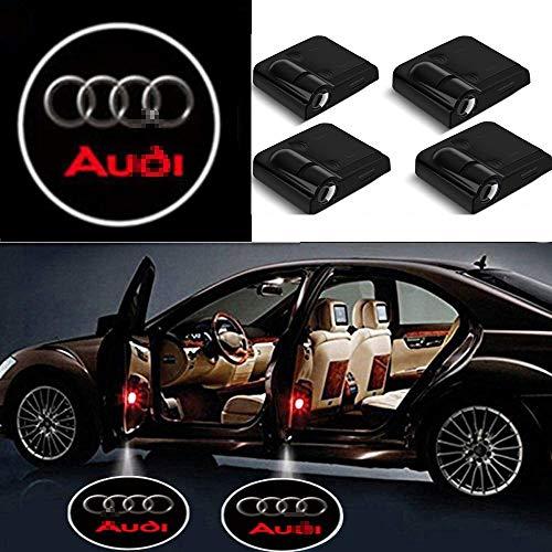 Autotür Willkommenslicht Auto-Tür-Led Logo-Projektor-Licht kein Schaden Montage Drahtlose Lampen-Emblem-Schritt-Geist-Schatten-Licht for Audi Cars 4PCS
