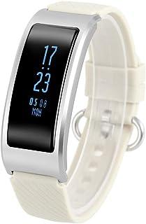 OverTop DF23 - Monitor de ritmo cardíaco inteligente (banda deportiva), color plateado
