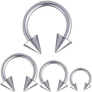 Herradura-joyería Piercing Titan 1,2 mm circular Barbell puntas | 6 - 12 mm