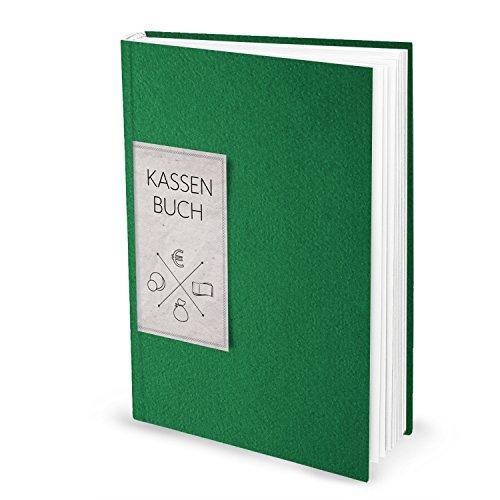 Logbuch-Verlag ordnungsgemäßes Kassenbuch Finanzbuch zum Einschreiben DIN A4 grün - Einnahmen Ausgaben Übersicht Buchhaltung - Hardcover
