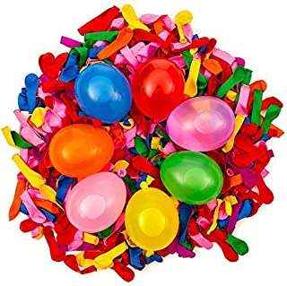 Toparty 1000 Pack Water Balloons Refill Quick & Easy Kit Latex Water Bomb Balloons Fight Games - 1000 Balloons + 3 Quick & Easy Hose Nozzle