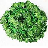 Hojas de ratán artificiales Vides de flores artificiales Vid decorativa Rábano verde Hojas de parra trepadoras Ivy