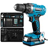 ORFELD Cordless Drill Home Tool Kit with 20V Lithium Battery, Power Drill Set for Home Improvement...