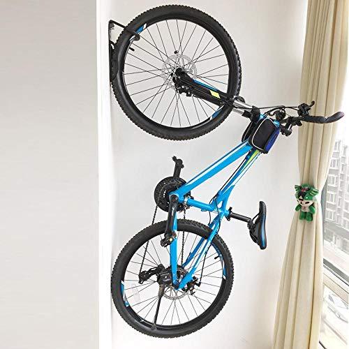 Yahee 2x Set Fahrradhalter Fahrrad Wandhalter Fahrradhaken Wandmontage Aufbewahrung mit Schrauben, Schwarz - 5