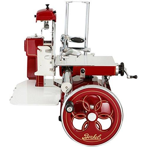 Berkel - Rebanadora Manual Volano Mod. B3 - Rojo con Decoraciones Doradas - Nuevo Modelo 2018