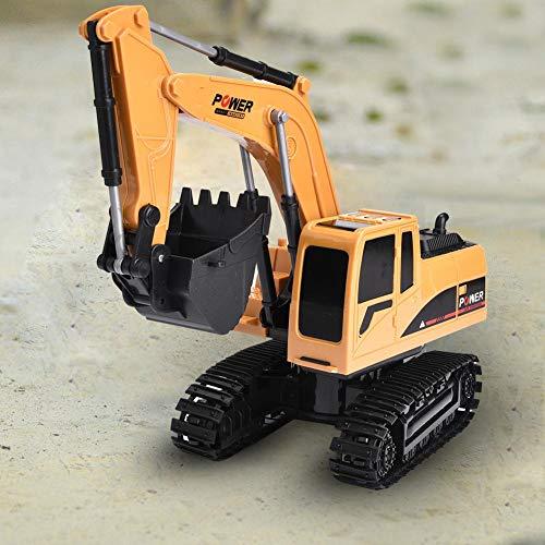 RC Auto kaufen Baufahrzeug Bild 5: Dilwe Fernbedienung Bagger, 6 Kanäle Bagger LKW 1/24 RC Engineering Baufahrzeug Spielzeug Geschenk für Kinder ( Kunststoff)*