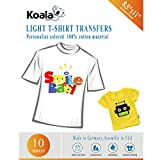 Koala Iron-On Light T Shirt Transfer Paper 10 Sheets 8.5x11 Inches Compatible