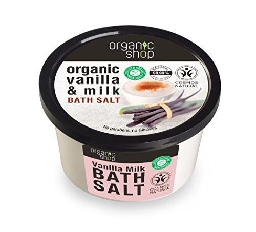 Bio Shop Vanille et de sel de bain de lait, 250 ml