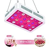 TOPLANET Lampada Coltivazione, 600W Grow LED UV IR Full Spectrum Luci per Piante con Veg & Bloom Channel per Serra da Giardino Serra Hydroponics Herb Flower Growing