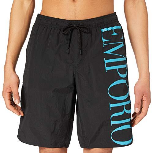Emporio Armani Swimwear Bermuda Eco Conscious New Basics Costume da Bagno, Black, 52 Uomo