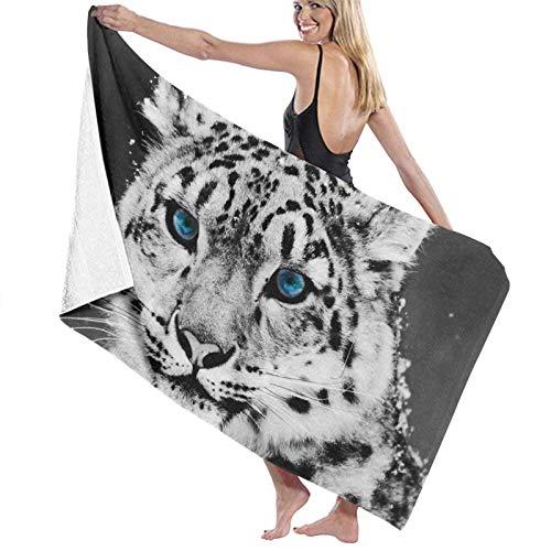 LREFON Toallas de baño Snow Leopard Toalla de Ducha de Secado rápido a la Moda Toalla de baño de Playa Suave con Personalidad (31.5X51.2 Pulgadas)