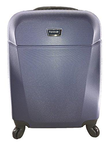 Maleta Equipaje de mano cabina rígida ligera con 4 ruedas, 55cm, TERRAE, color AZUL L.Blue LB0904