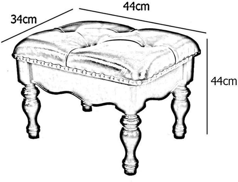 YUMUO Tabouret à thé Tabouret Ottoman Tabouret Canapé Tabouret Lounge Tabouret Tabouret en Bois Massif Banc de Chaussure en Bois Massif (Couleur: Brun, Taille: 35 cm) 4