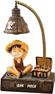 Tiyila Anime One Piece Personajes Lámpara de Resina Lámpara de Mesa de luz Nocturna Creativa Lámparas de cabecera para Lectura(H02)