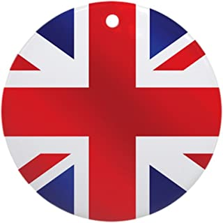 CafePress Union Jack UK Flag Ornament (Round) Round Holiday Christmas Ornament