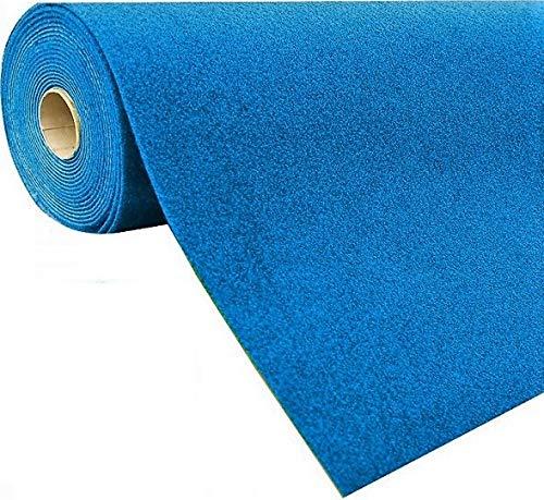 havatex Rasenteppich Kunstrasen mit Noppen 1.550 g/m² - Rot Blau Grau Braun Beige oder Anthrazit | Meterware | wasserdurchlässig | Balkon Terrasse Camping, Farbe:Blau, Größe:200 x 300 cm
