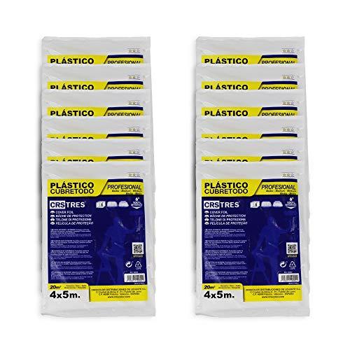 Plástico Cubretodo protector 4x5m - 20 m2 (PACK x12, MEDIO)