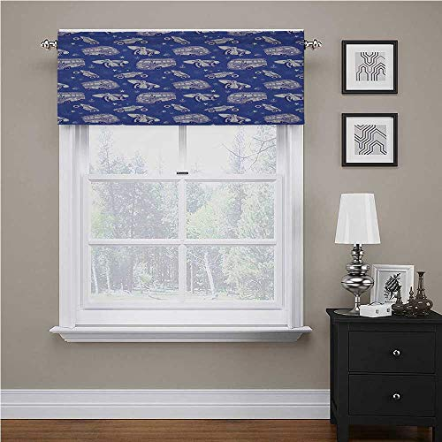 Youdeem-tablecloth Surfboard Window Curtain Valance Surfboards On Hippie Bus Motorcycle Hawaii California Graphic Design for Kitchen Farmhouse Violet Blue Lilac White 56' x 16', Rod Pocket 1 Valance
