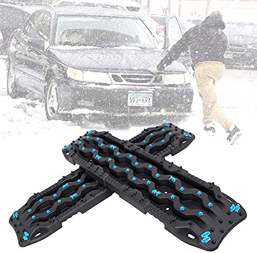 AEGIS light Tire Escaper Traction Mats,Recovery Boards Traction Tracks Mat,Emergency Lightweight Portable Vehicle Recovery Treads for Car, Truck, RV, ATV Roadside Assistance and Off-Road,Blue
