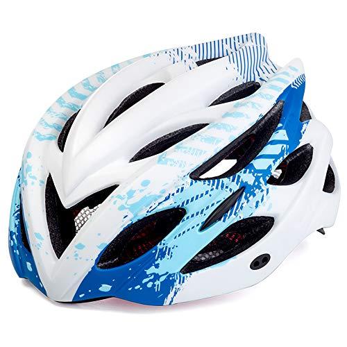 ILKJ Cascos Bici Carretera Mujer Azul Blanco, Hombre Casco de Bicicleta con...