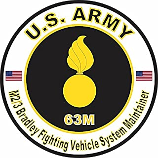 MAGNET US Army MOS 63M M2-3 Bradley Fighting Vehicle System Maintainer 11.75 Inch Magnetic Sticker Decal