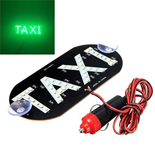 HMOCNV - Señal luminosa de 45 LED para parte superior de taxi, para techo de taxi, 12V, con base magnética