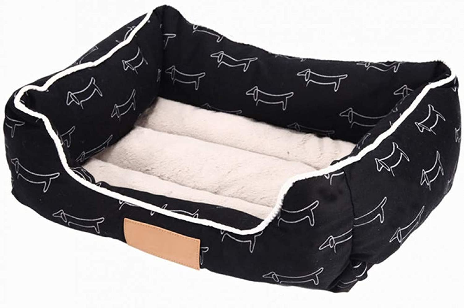 Cotton printed pet dog mattress comfortable autumn and winter puppy cat bed rectangular sofa bed small medium dog pet