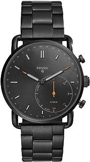Fossil Hybrid Smartwatch Commuter con cinturino in acciaio inossidabile nero per uomo FTW1148