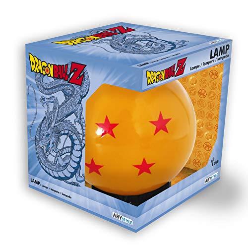 ABYstyle Dragon Ball Z Maxi Noche Bola de Cristal de luz espía Naranja 4 Estrellas con Cable USB