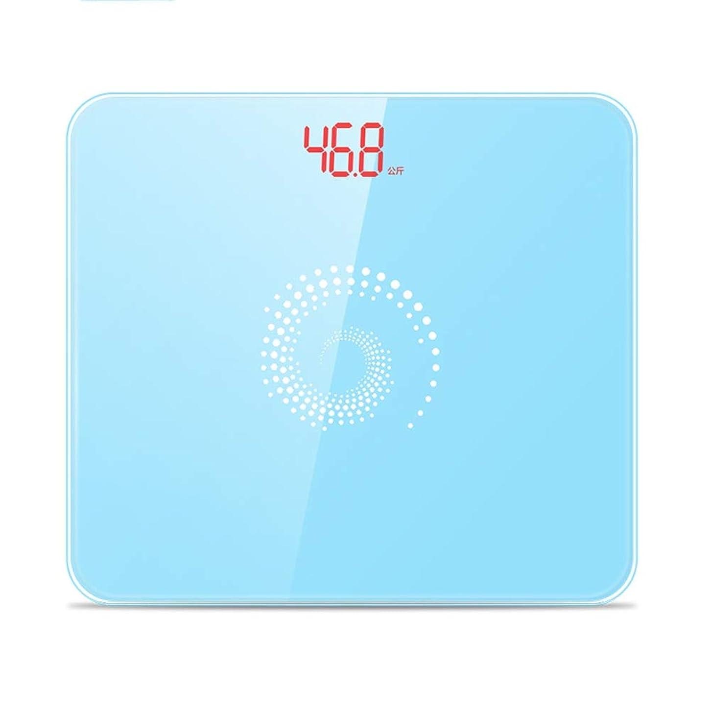 岸飲食店難破船家の電子精密ボディスケール、小さい重量の大人の小さい減量のスケール - 11x9.6x0.8inch (Color : Blue)