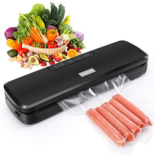 Vacuum Sealer Machine, GOSCIEN Automatic Vacuum Sealer Food Saver with Led Indicator...