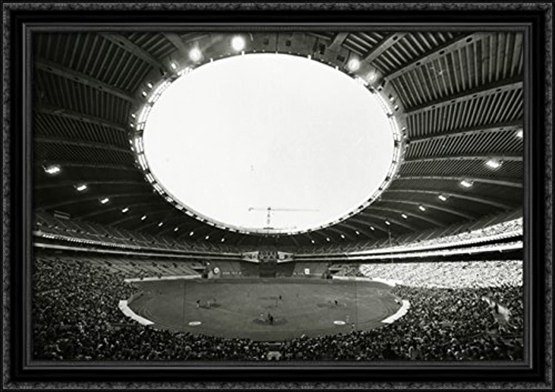 Hubert Humphrey Metrodone 40x28 Large Black Ornate Wood Framed Canvas ArtHome of the Minnesota Twins