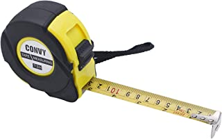 Convy GJ-0163 Measuring Tape Measure Imperial Inch Metric Scale with Dual Side Metal Blade(7.5M/ 25ft)