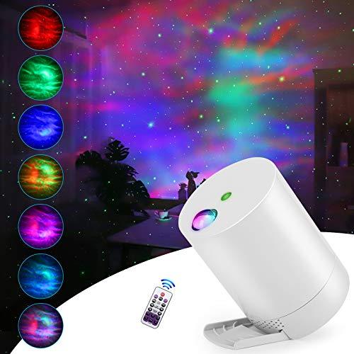 CAIYUE Projecteur Ciel Etoile, Ocean Wave Galaxy Light avec télécommande, nébuleuse pour Chambre d'enfants avec Vitesse et luminosité réglables,Projecteur Étoile, Lampe Projecteur LED Étoile