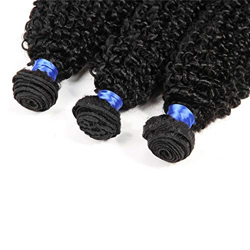Cheveux humains péruviens crépus bouclés 22 pouces