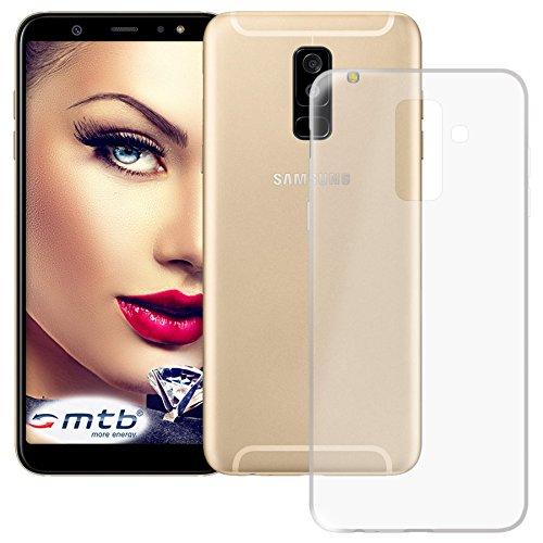 mtb more energy® Schutz-Hülle Clear und Slim für Samsung Galaxy A6 Plus, A6+ 2018 (SM-A605G, 6.0'') - transparent - flexibel - TPU Silikon Hülle Cover Tasche