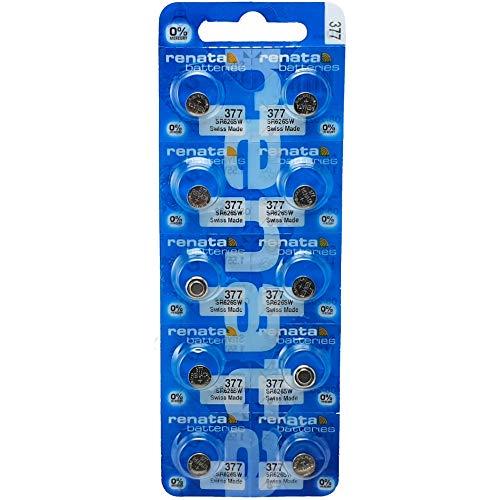 10x 377Renata Swiss Made batteria al litio bottone SR626SW