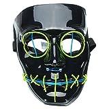 Di&Mi LED Leuchten EL Wire Drahtmaske Cosplay Kostüm Maske für Karneval Fasching Fastnacht Party...