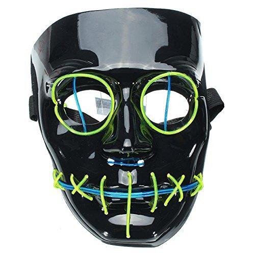 Di&Mi & Mi LED Leuchten el Wire Alambre máscara Cosplay Disfraz Máscara para Carnaval fastnacht Party